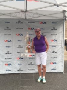US Open trophy, Grady, me